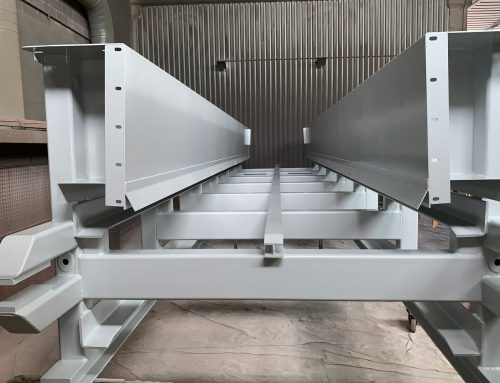 Verniciatura carpenteria pesante, travi e colonne